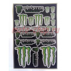 Набор наклеек на пластик мотоцикла monster energy