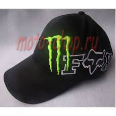Кепка monster energy fox черная